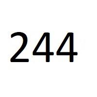 244 راز عدد