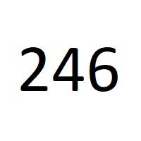 246 را عدد معنا
