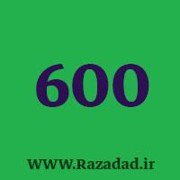 600 راز عدد معنا و مفهوم
