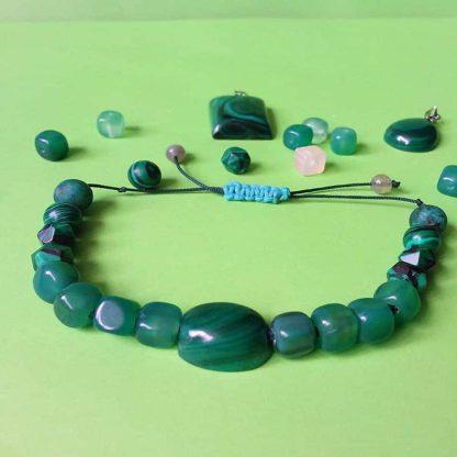 CODE 102 خرید دستبند سنگ مالاکیت کنگو