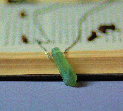 Code 237 گردنبند نقره سنگ کوارتز سبز