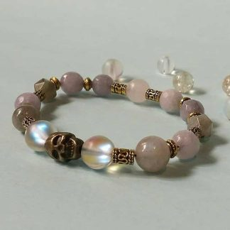 Code 0031 خرید دستبند سنگ مون استون ( سنگ ماه ) ، لابرادوریت ، جید