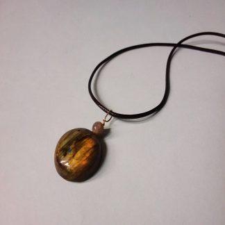 Code 01018 خرید گردنبند سنگ لابرادوریت طبیعی و معدنی تراش خاص