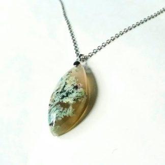 J54 سنگ عقیق شجر بهاری فردوس - بهبود چاکرای تاج - خرد - ارتباط معنوی