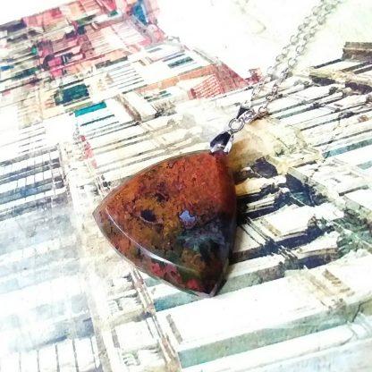 J60 سنگ عقیق شجر دریایی پاییزی - Sacral Chakra - بهبود چاکرا