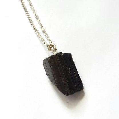 Code To9 راف سنگ تورمالین سیاه , آویز نقره ۹۲۵ عیار